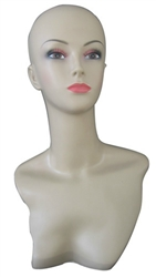 Female Display Head with Realistic Makeup