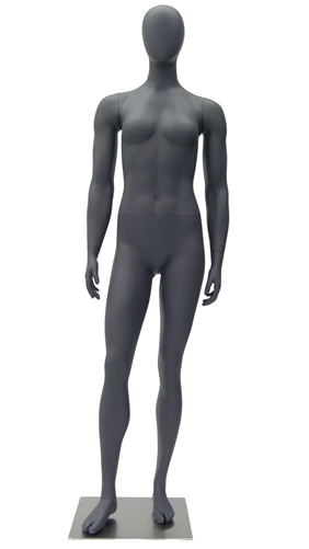 Athletic Gray Egghead Female Mannequin