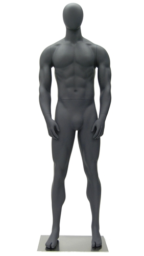 Athletic Gray Egghead Male Mannequin