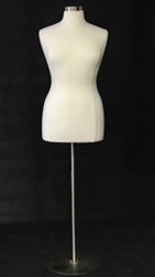 Female Dress Form Size 14/16 - Metal Base Included
