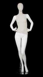 Linen Mixed Fabric Female Mannequin Hands on Hip