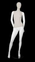 Linen Mixed Fabric Female Mannequin Hands Back