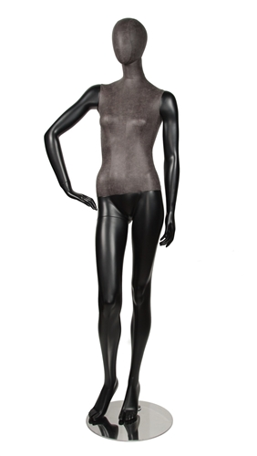 Leather Like Mixed Fabric Female Mannequin