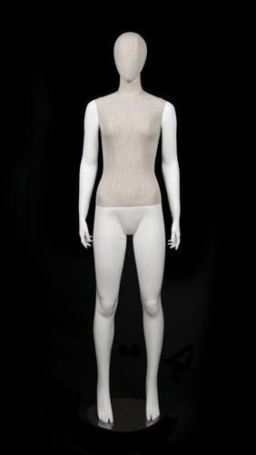 Linen Mixed Fabric Female Mannequin Hands Standing