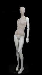 Linen Mixed Fabric Female Mannequin left leg out