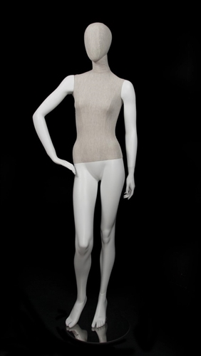 Linen Mixed Fabric Female Mannequin Right Hand Hip