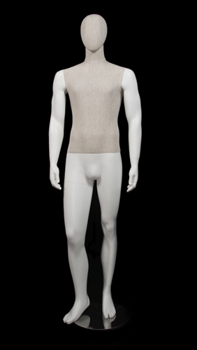 Linen Mixed Fabric Male Mannequin Standing
