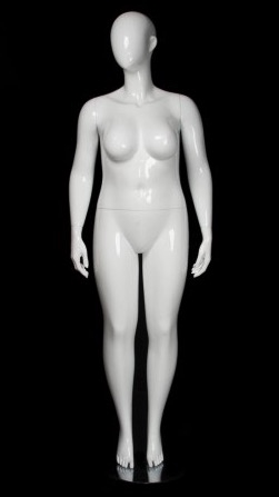 Glossy White Plus Size 16 Female Mannequin