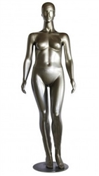 Metallic Gold Plus Size 16 Female Mannequin