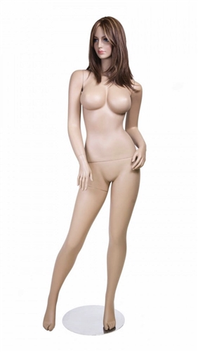 Realistic Large Bust Female Flesh Tone Mannequin