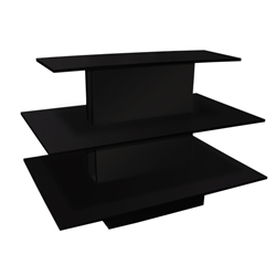 3-Tier Display Table in a Black Finish and Rectangular Shape from www.zingdisplay.com