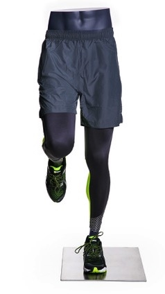 Male Runner Mannequin Legs Pant Form Matte Grey