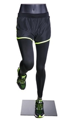 Female Runner Mannequin Legs Pant Form Matte Grey