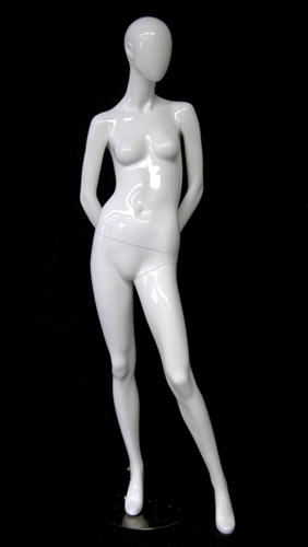 Abstract Head Female Mannequin with hands behind back