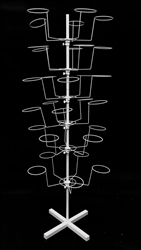 6 Tier White Metal Hat Rack