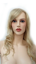 Long Curly Light Blonde Mannequins wig