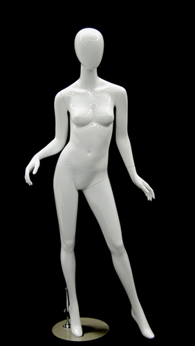 Egghead Female Mannequin - Arms Open in Gloss White Finish