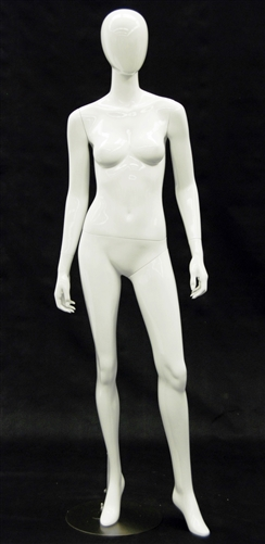 Egghead Female Mannequin - Arms to Side in Gloss White Finish