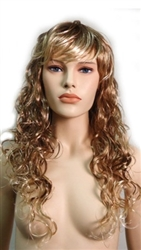 Long Curly Dirty Blonde Mannequins wig