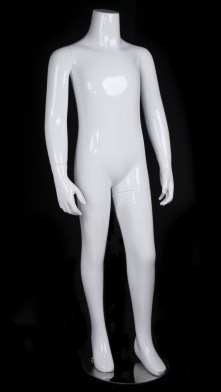 Glossy White Headless Unisex Child Mannequin from www.zingdisplay.com