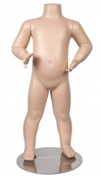 Fleshtone Headless Unisex Toddler Mannequin from www.zingdisplay.com