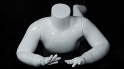 Glossy White Headless Crawling Toddler Mannequin from www.zingdisplay.com