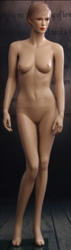 Molded Hair Female Mannequin with Realistic Facial Features from www.zingdisplay.com
