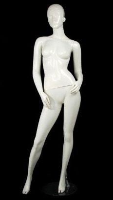 Unbreakable Glossy White Female Egghead Mannequin