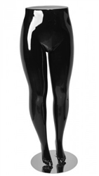 Plus Size Female Legs Pant Form Mannequin Glossy Black