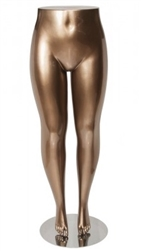Plus Size Female Legs Pant Form Mannequin Metallic Gold