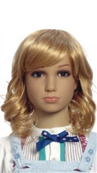 Blonde Female Child Mannequins wig