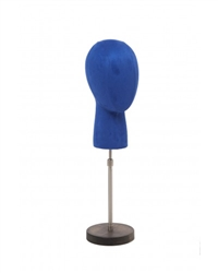 Dark Blue Egghead Form Display with Adjustable Base