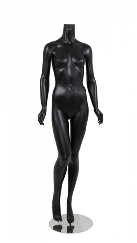 Female Mannequin Matte Black Headless Changeable Heads