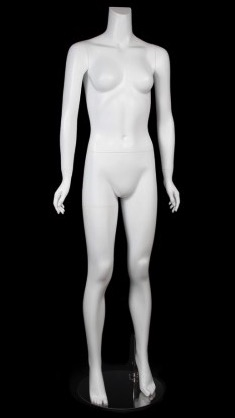 Female Mannequin Matte White Headless Changeable Heads