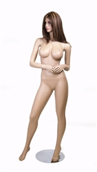 Realistic Fleshtone Big Breasted Female Mannequin