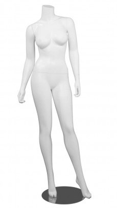 Matte White Headless Female Brazilian Body Mannequin