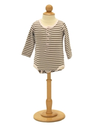 Unisex child dress form.  Base and finial included.