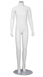 Glossy White Teenage Mannequin - Changeable Heads