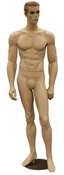 Realistic Athletic Male Mannequin with Molded Hair