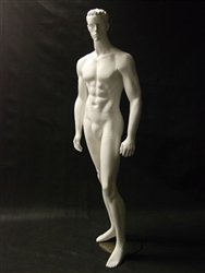 Molded Hair Male Mannequin with defined muscles and realistic facial features from www.zingdisplay.com