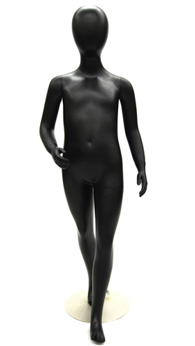5 Year Old Child Mannequin in Black from Zing Display