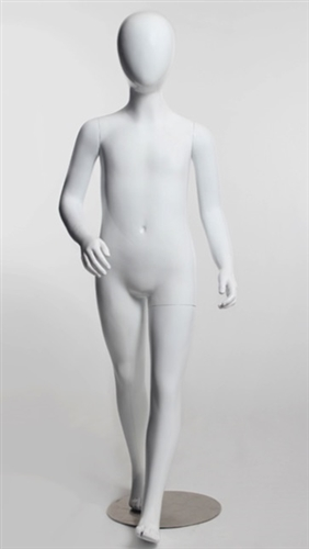 5 Year Old Child Mannequin in Glossy White from Zing Display