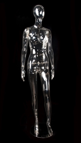 Clear Translucent Female Egghead Mannequin