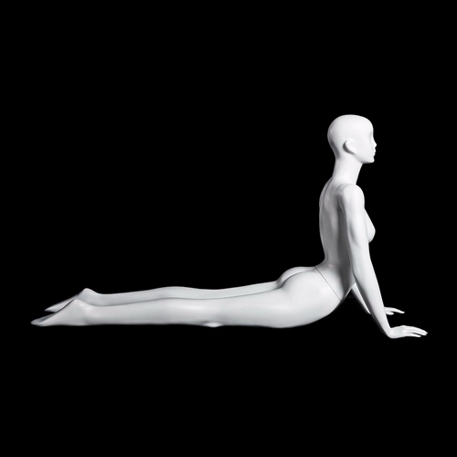 Glossy Pearl Female Yoga Mannequin - Cobra Pose