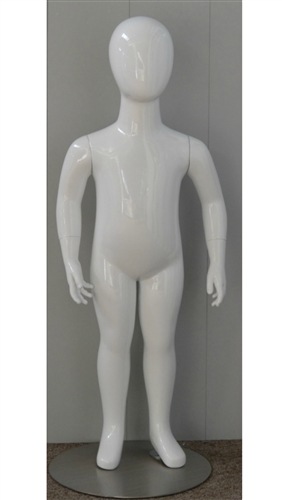 2 year old White Egghead Mannequin - Child Mannequin