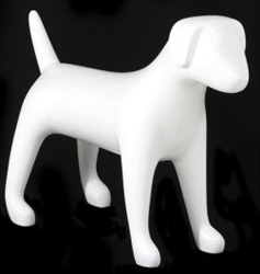 Matte White Abstract Medium Puppy Dog Mannequin