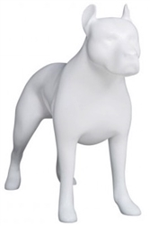Matte White Abstract Pit Bull Dog Mannequin