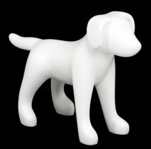Matte White Abstract Small Puppy Dog Mannequin