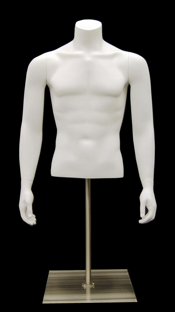 Upper Torso Mannequin Forms | Parker Male Headless 3/4 Display Form ...