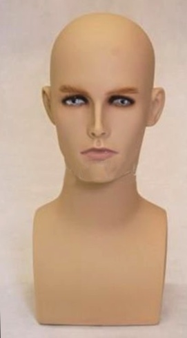 Photo: Sunglasses Display Head Form | Hat Display Form | head forms | hat mannequin